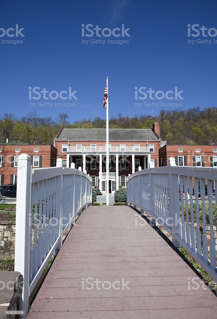 Entrance to Country Inn royalty-free stock photo
