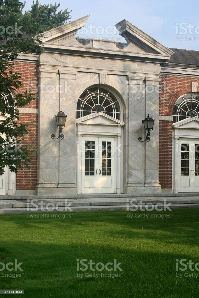 Entrance to early 1900's building. Dearborn, Michigan stock photo