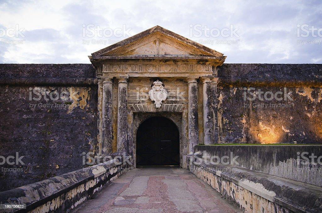 Entrance to El Morro in Old San Juan, Puerto Rico stock photo