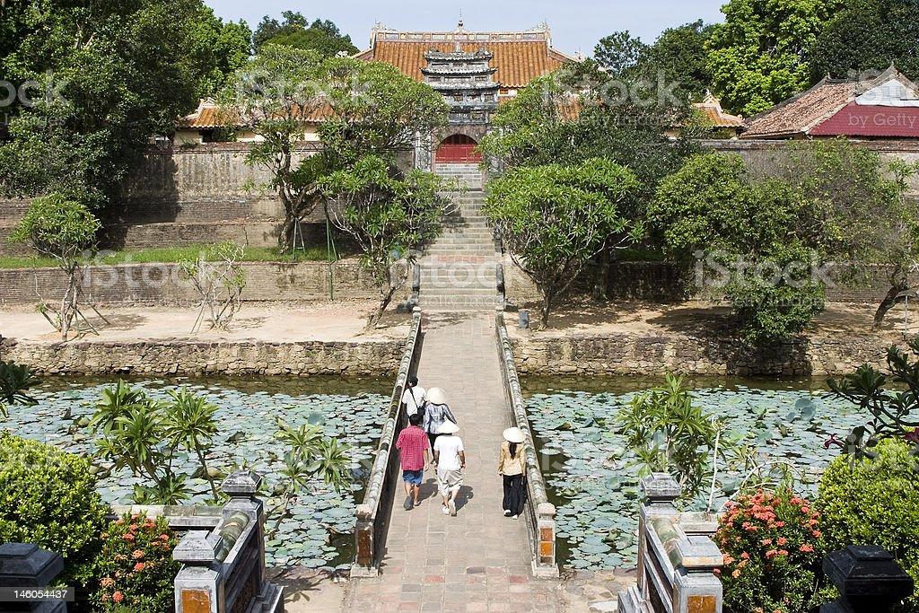 Entrance to emperor citadel, Hue, Vietnam stock photo
