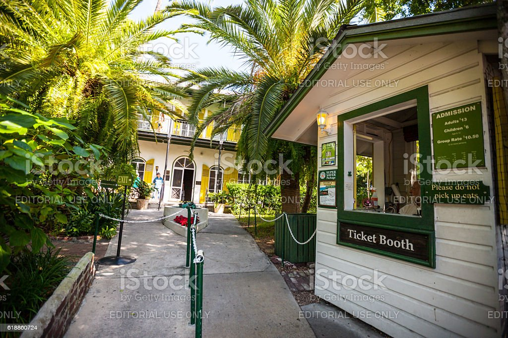 Entrance to Ernest Hemingway Home and Museum, Key West stock photo