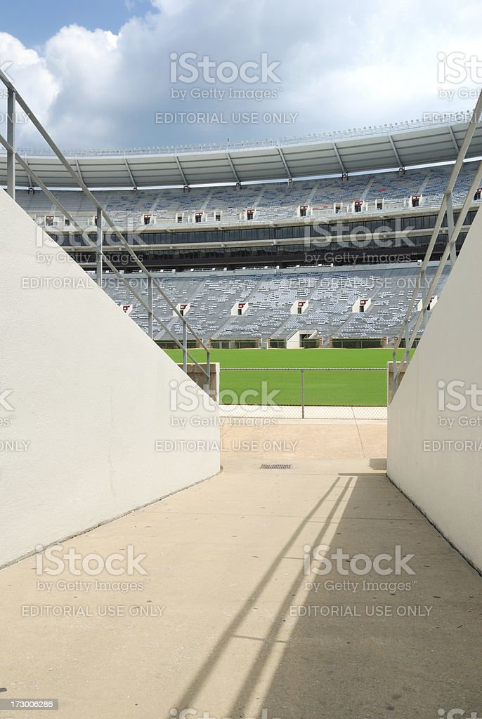 Entrance to Football Stadium stock photo