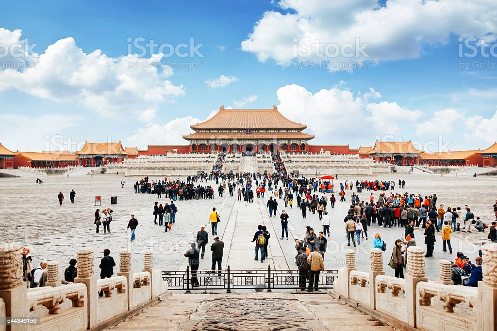 Entrance to Forbidden City in Beijing, China stock photo