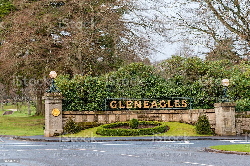 Entrance to Gleneagles Hotel. royalty-free stock photo