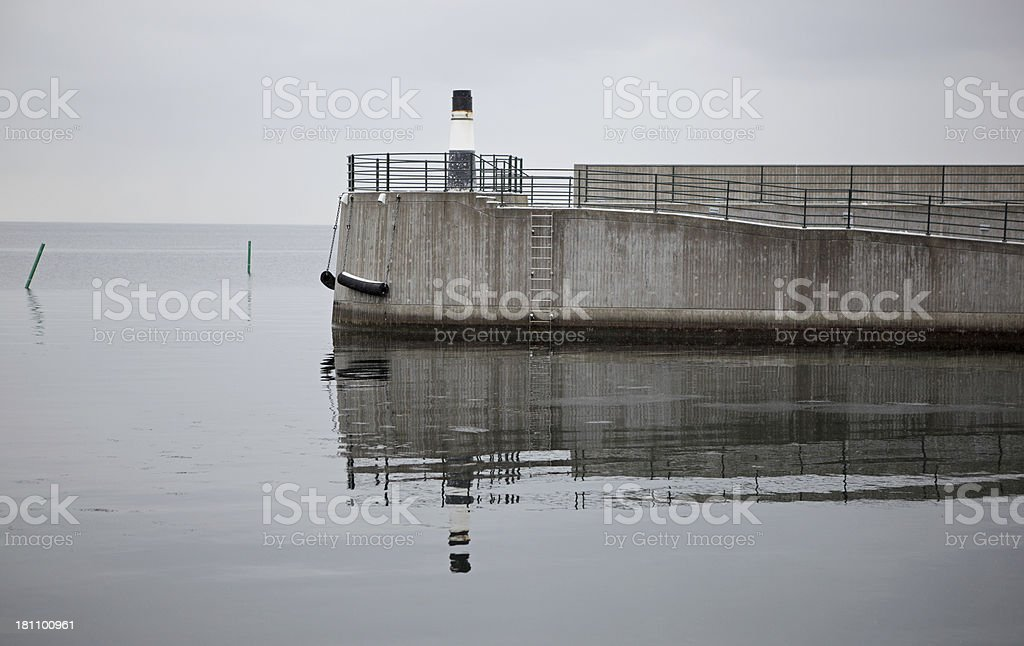 Entrance to harbour stock photo