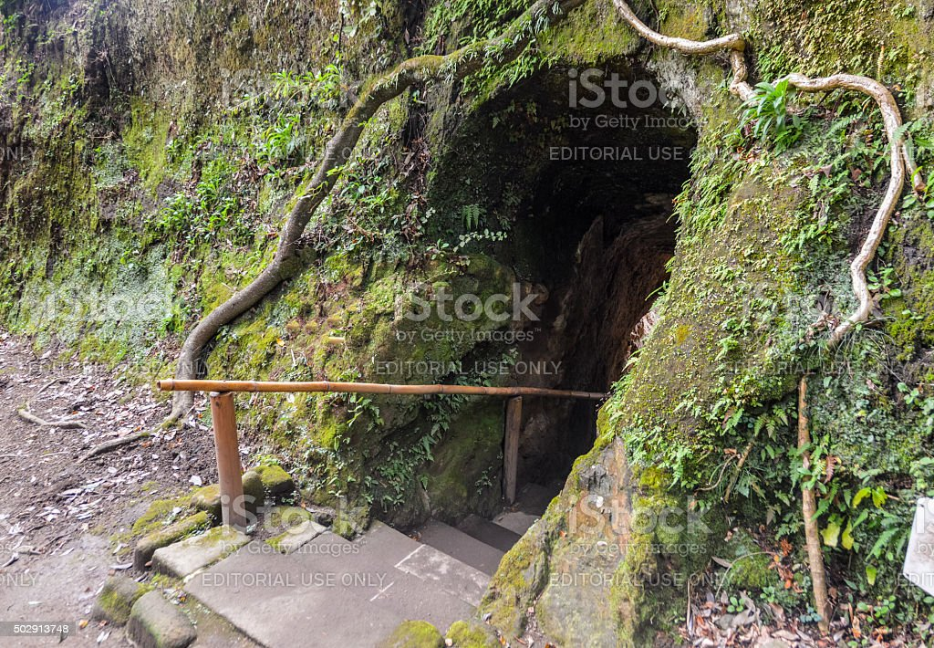 Entrance to Hobbit Cave stock photo