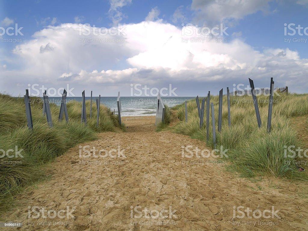 Entrance to Juno Beach stock photo
