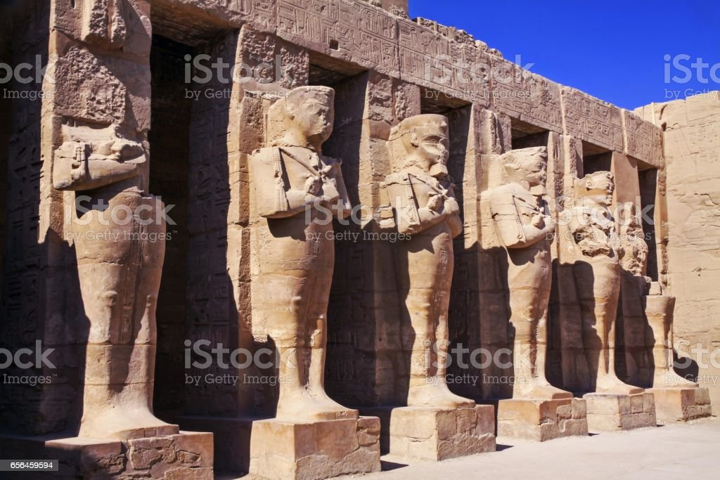 Entrance to Karnak Temple in the Valley of the Kings near Luxor, Egypt stock photo