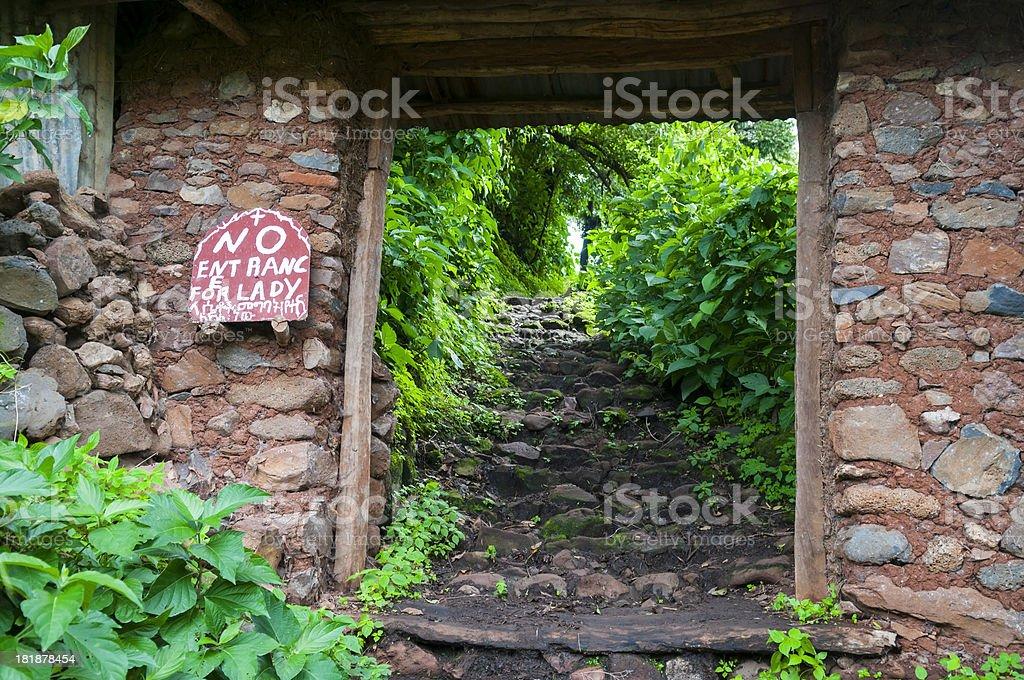 Entrance to Kibran Gabriel Monastery - Lake Tana stock photo