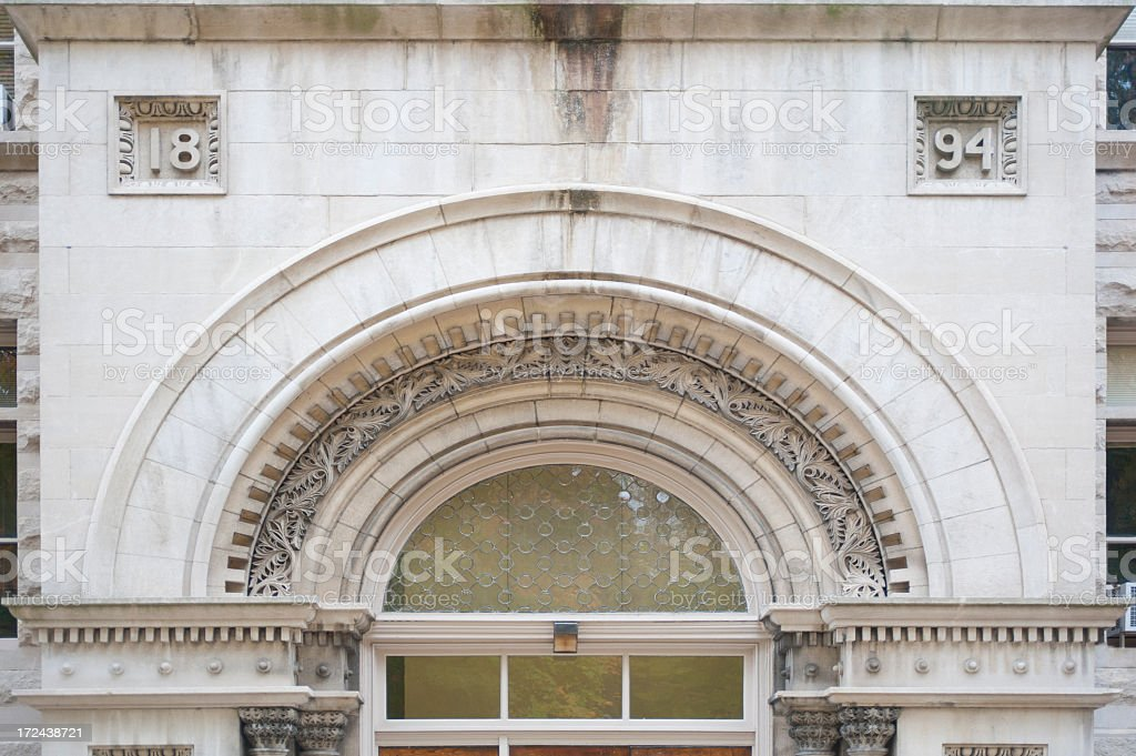 Entrance to Kirkwood Hall at Indiana University stock photo