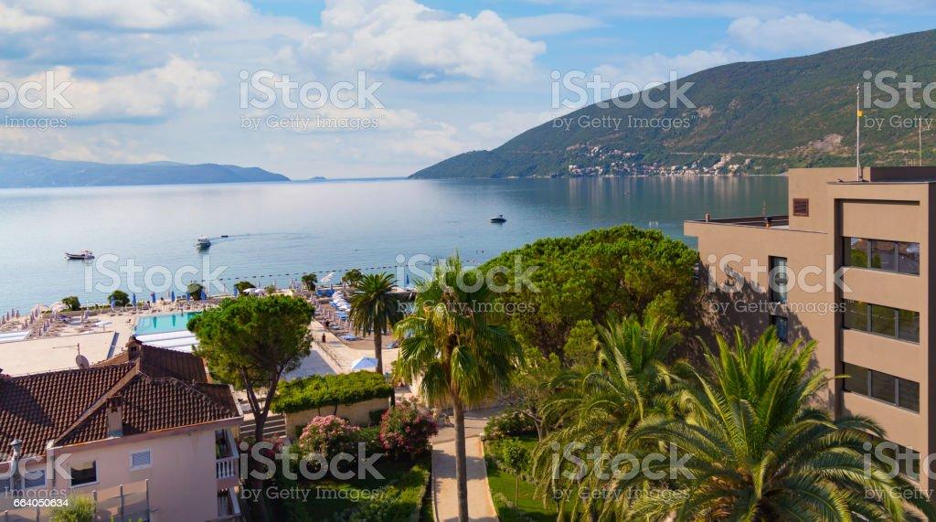 Entrance to Kotor bay, Crna Gora stock photo