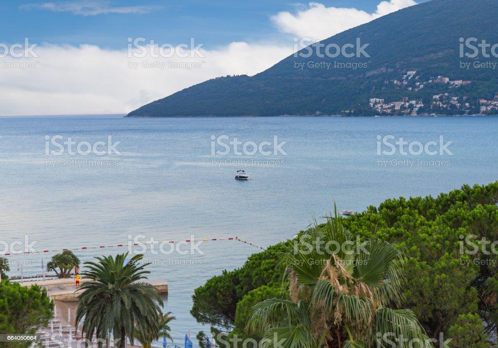 Entrance to Kotor bay, Montenegro stock photo