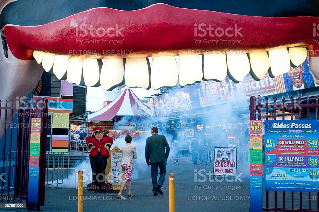 Entrance to Luna Park, Sydney, NSW, Australia stock photo