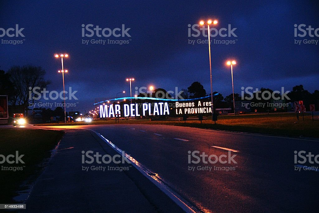 Entrada a Mar del Plata stock photo