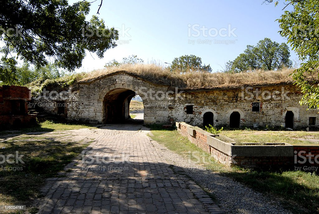 Entrance to Medieval Fortress - Fеtislаm royalty-free stock photo