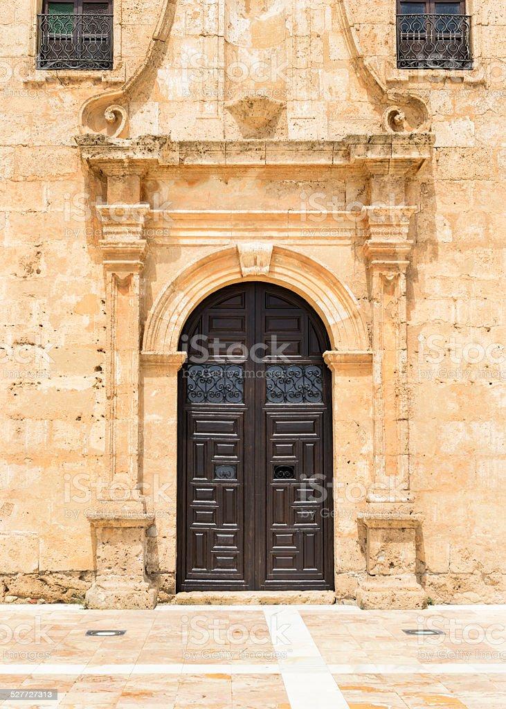 Entrance to Monastery Virgin Del Saliente stock photo