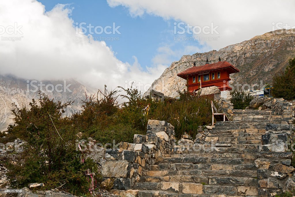 entrance to Muktinath temple stock photo
