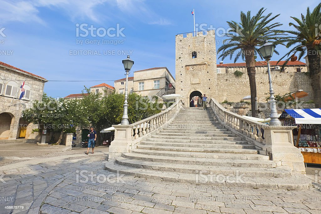 Entrance to old town - Korcula royalty-free stock photo