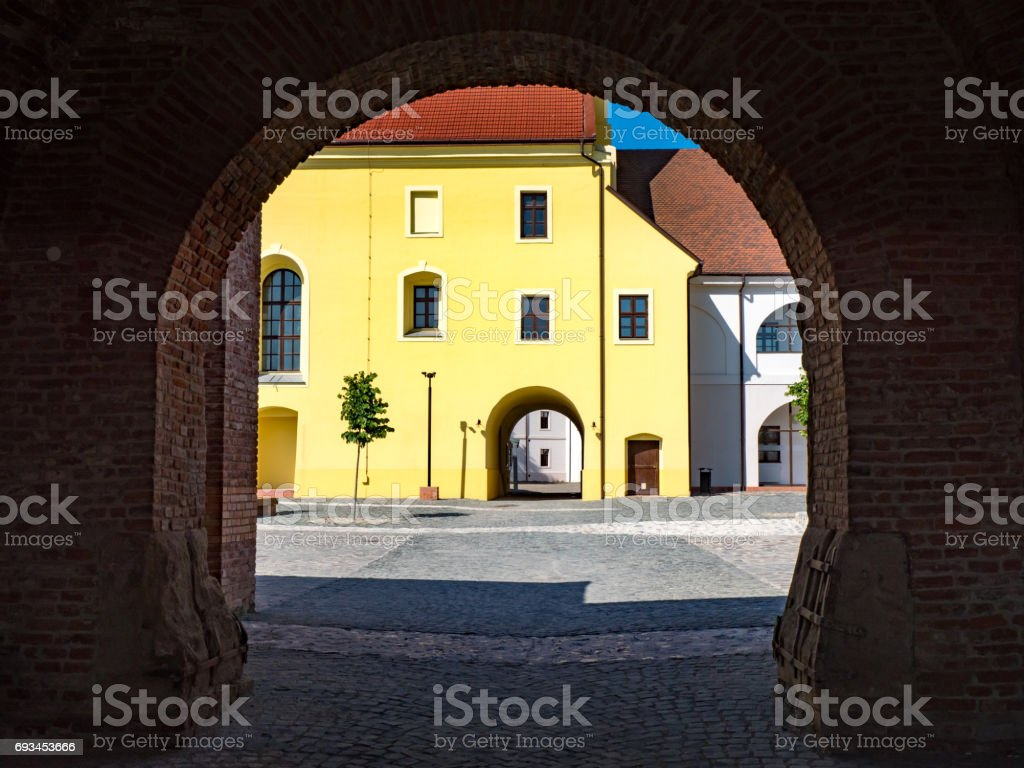 Entrance to Oradea fortress stock photo