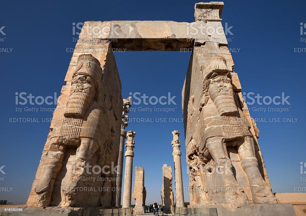 Entrance to Persepolis Achaemenid City of Shiraz stock photo