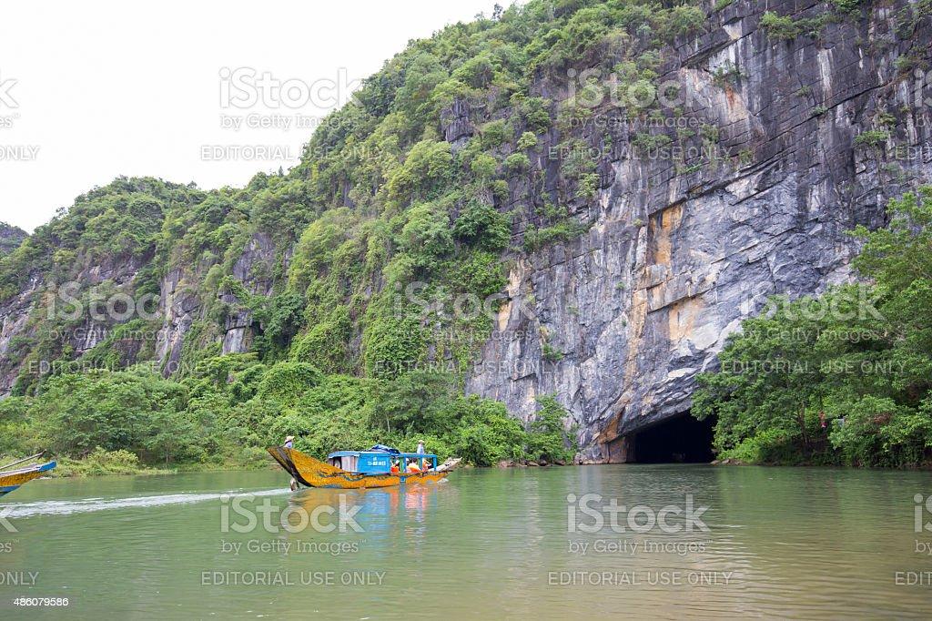 Entrance to Phong Nha cave royalty-free stock photo