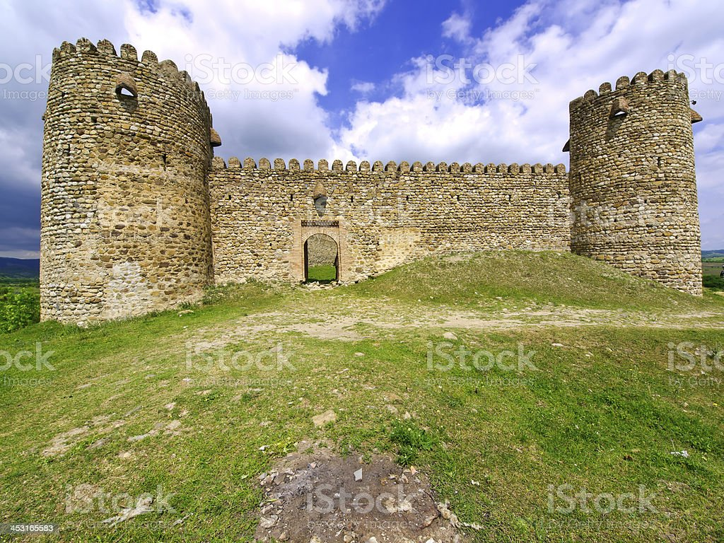 Entrance to ruins stock photo