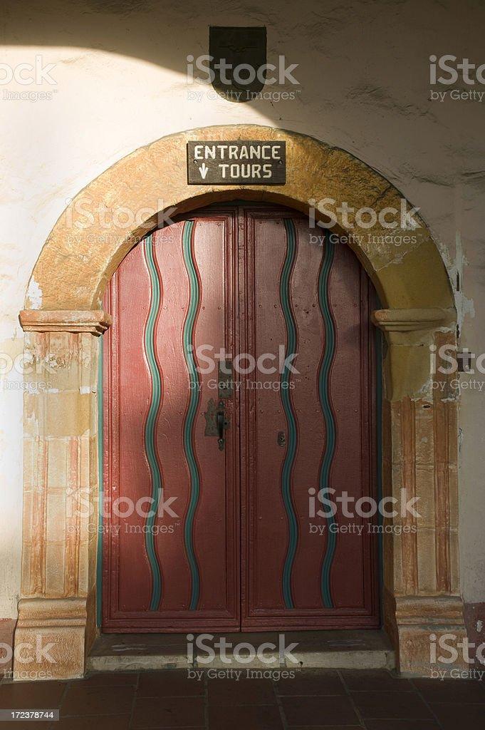 Entrance to Santa Barbara Mission royalty-free stock photo