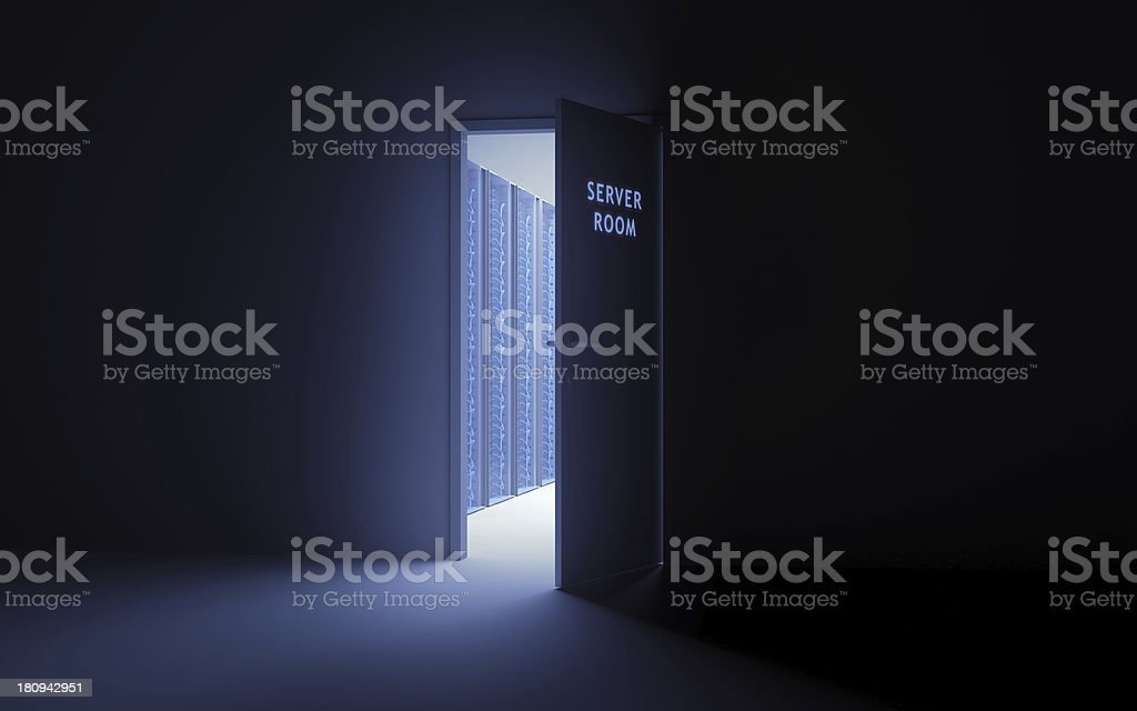 Entrance to server room royalty-free stock photo