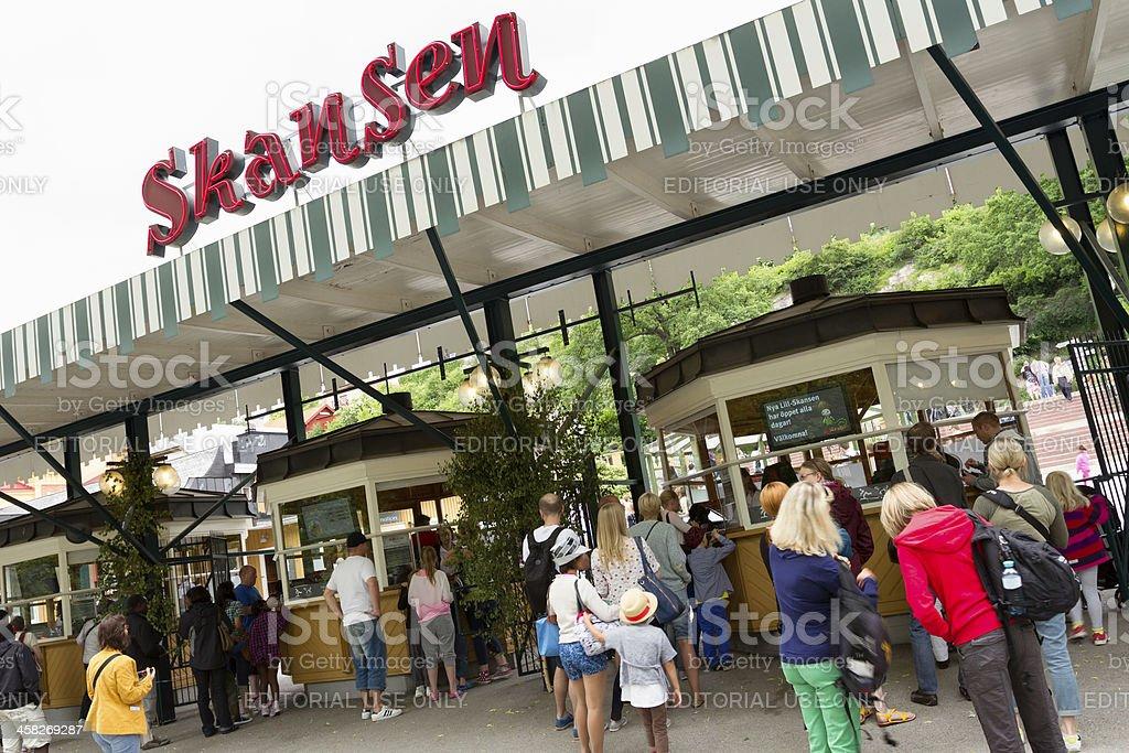 Entrance to Skansen stock photo