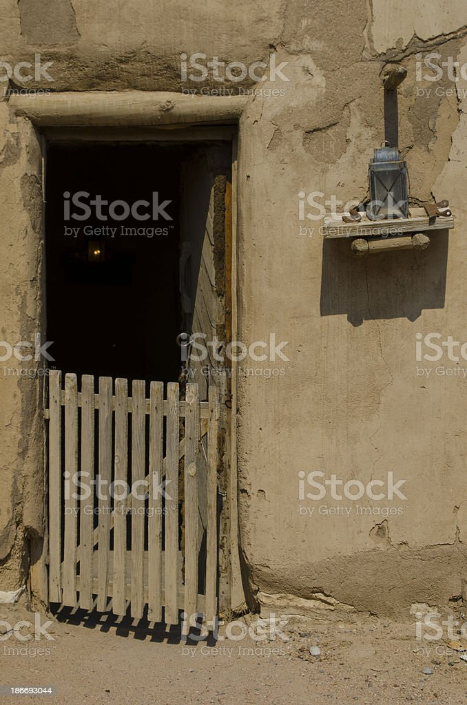 Entrance to Soldiers Quarters at Bent's Old Fort royalty-free stock photo