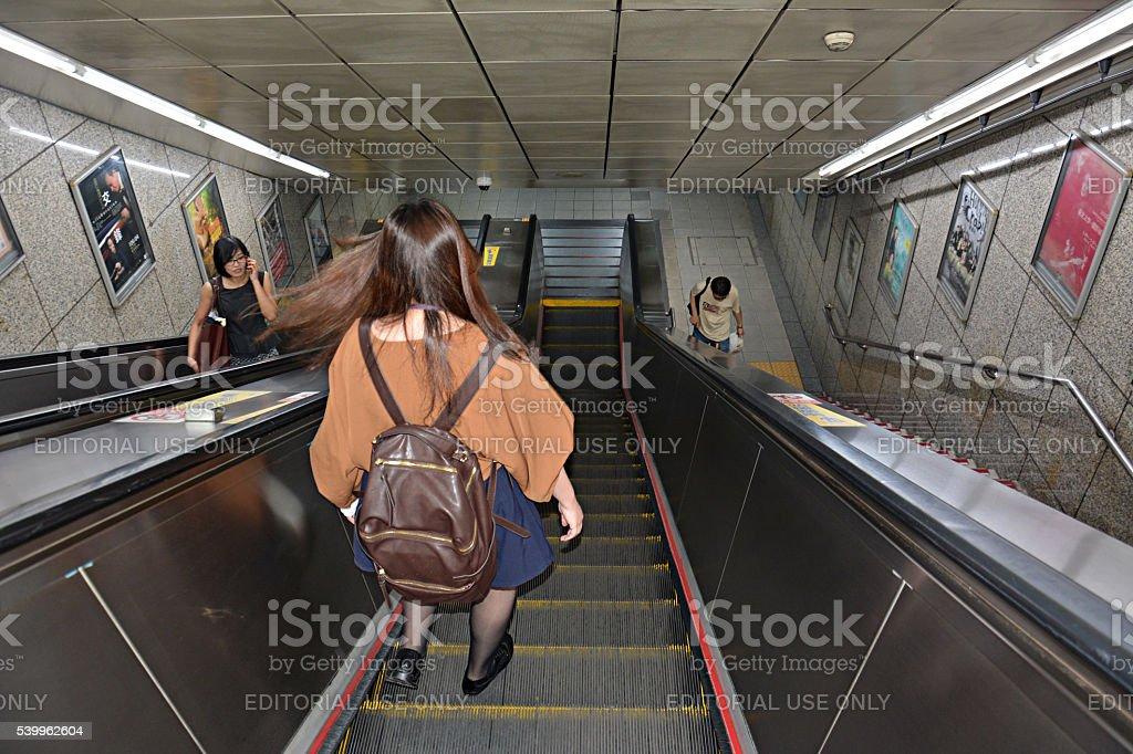 Entrance to Subway, MRT station in Taipei, Taiwan stock photo