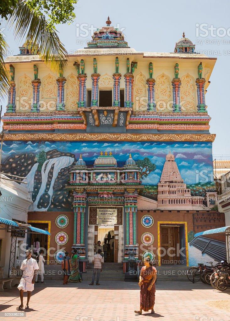 Entrance to Thanjavur Palace. stock photo