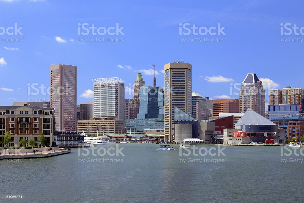 Entrance to the Baltimore Inner Harbor stock photo