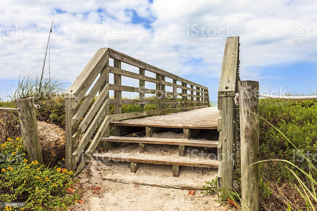 Entrance to the Beach royalty-free stock photo