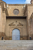 Entrance to the cathedral in Barbastro