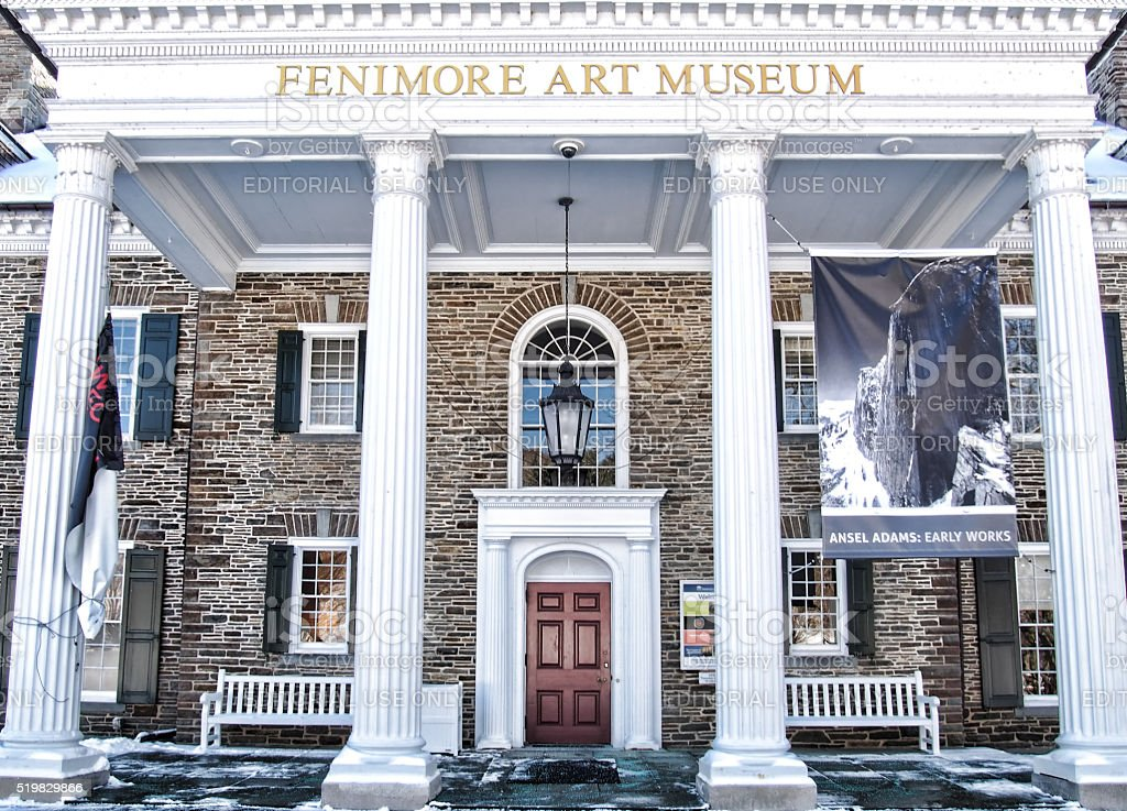 Entrance  to the Fenimore Art Museum stock photo