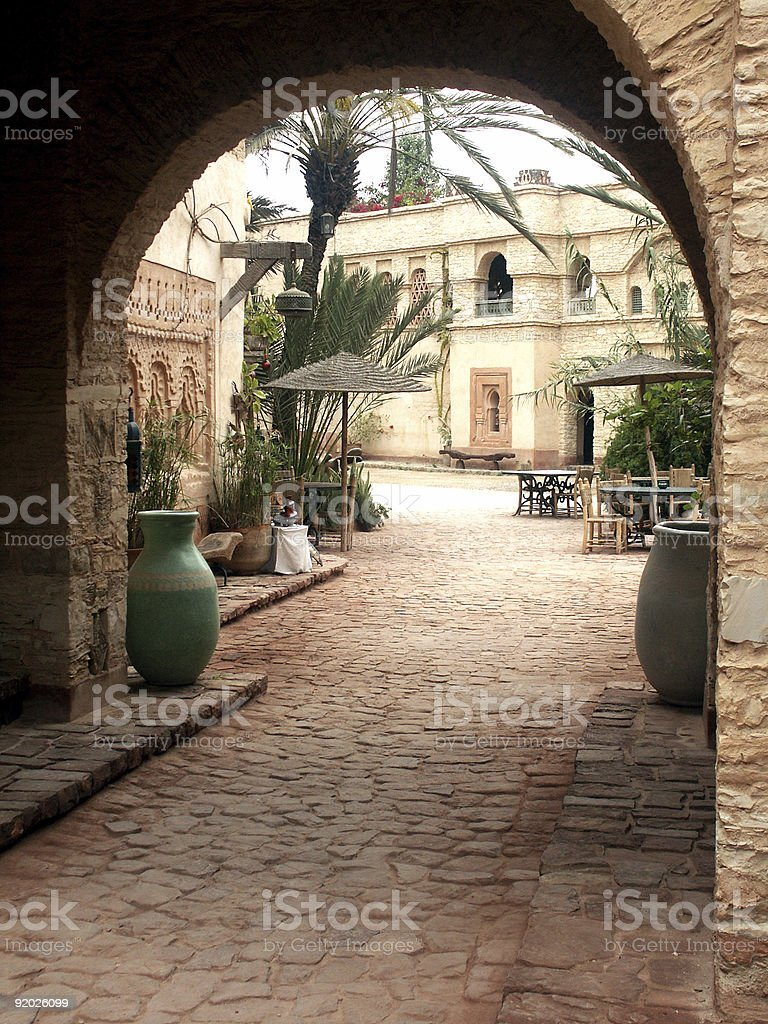 Entrance to the Kasbah of Agadir - Morocco royalty-free stock photo