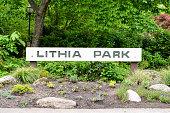 Entrance to the Lithia Park