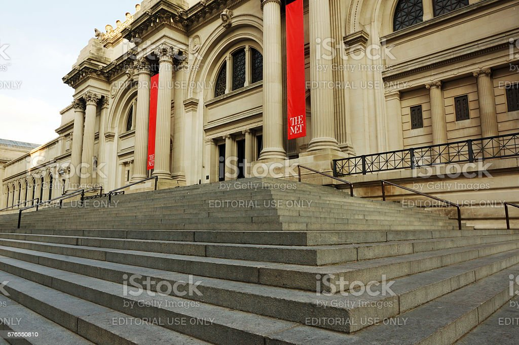 Entrance to the Met stock photo