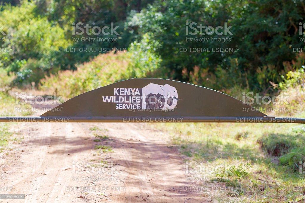entrance to the National Park in Marsabit Kenya. stock photo