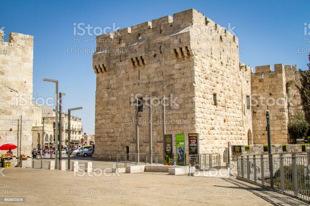 Entrance to the Old City of Jerusalem, Jerusalem Citadel, Israel stock photo