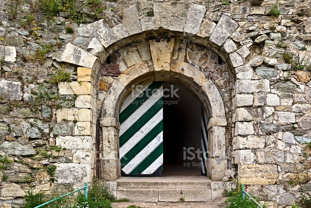 Entrance to the old fort, K?odzko, Poland stock photo