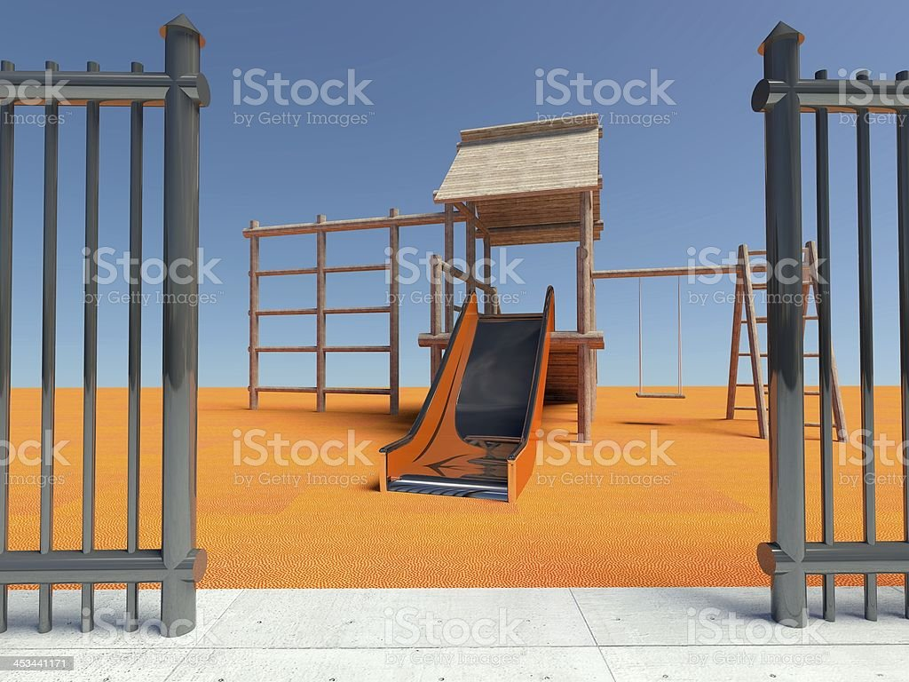 Entrance to the playground royalty-free stock photo