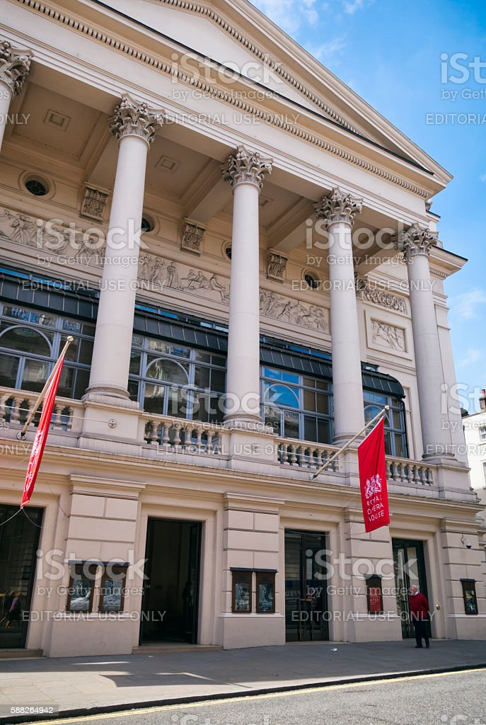 Entrance to the Royal Opera House, Covent Garden stock photo