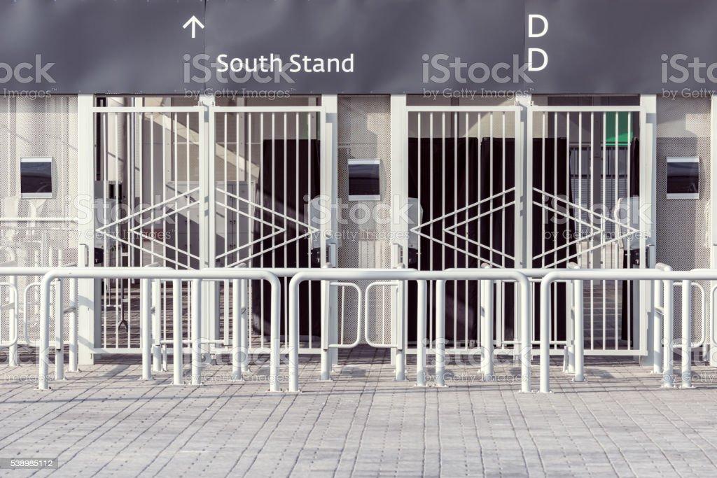 Entrance to the stadium. stock photo