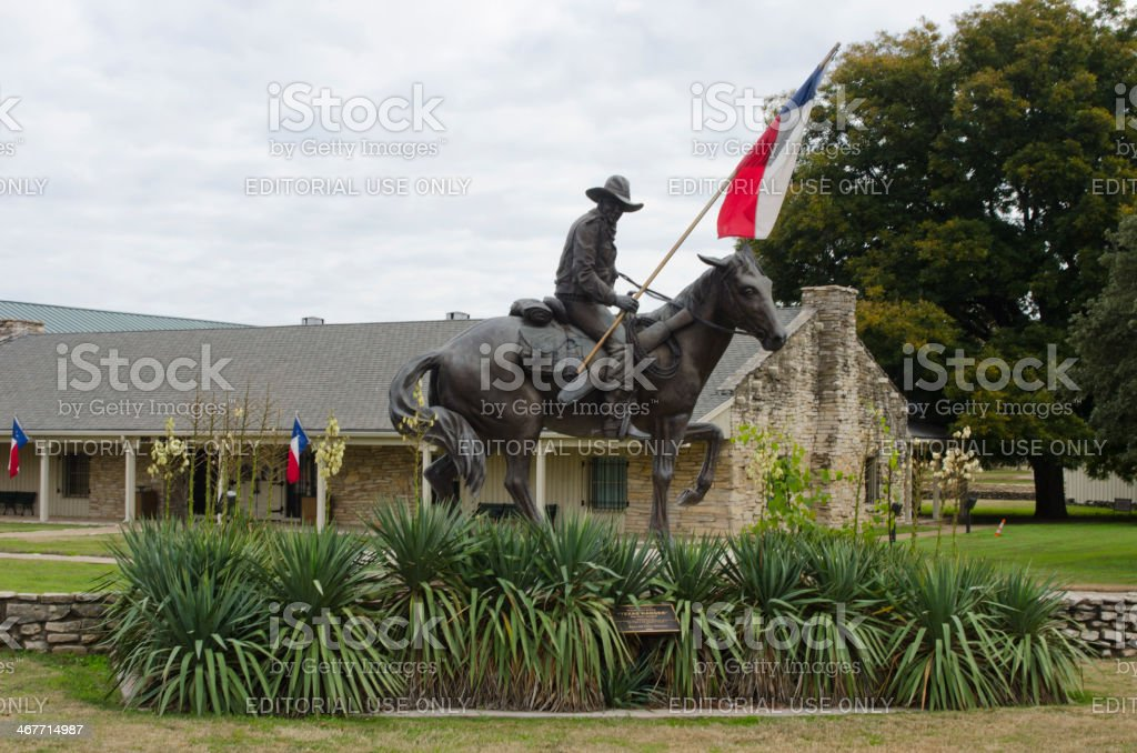 Entrance to the Texas Ranger Hall of Fame stock photo
