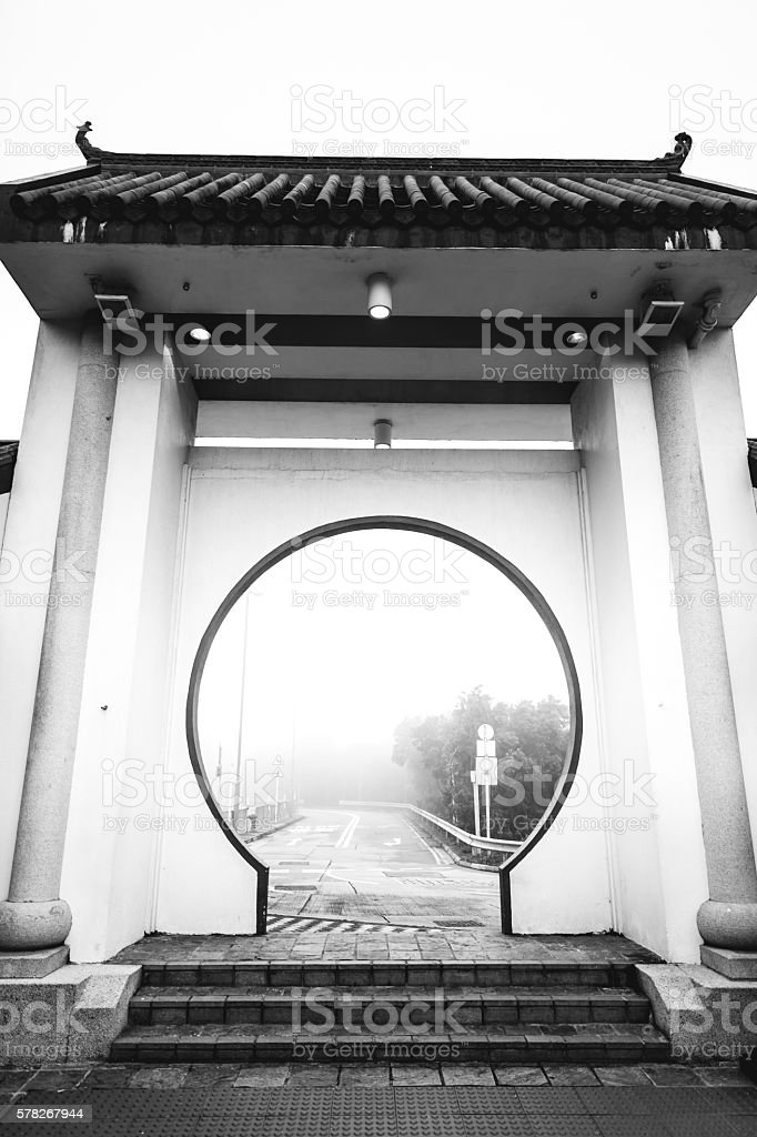 Entrance to the Tian Tan Buddha royalty-free stock photo