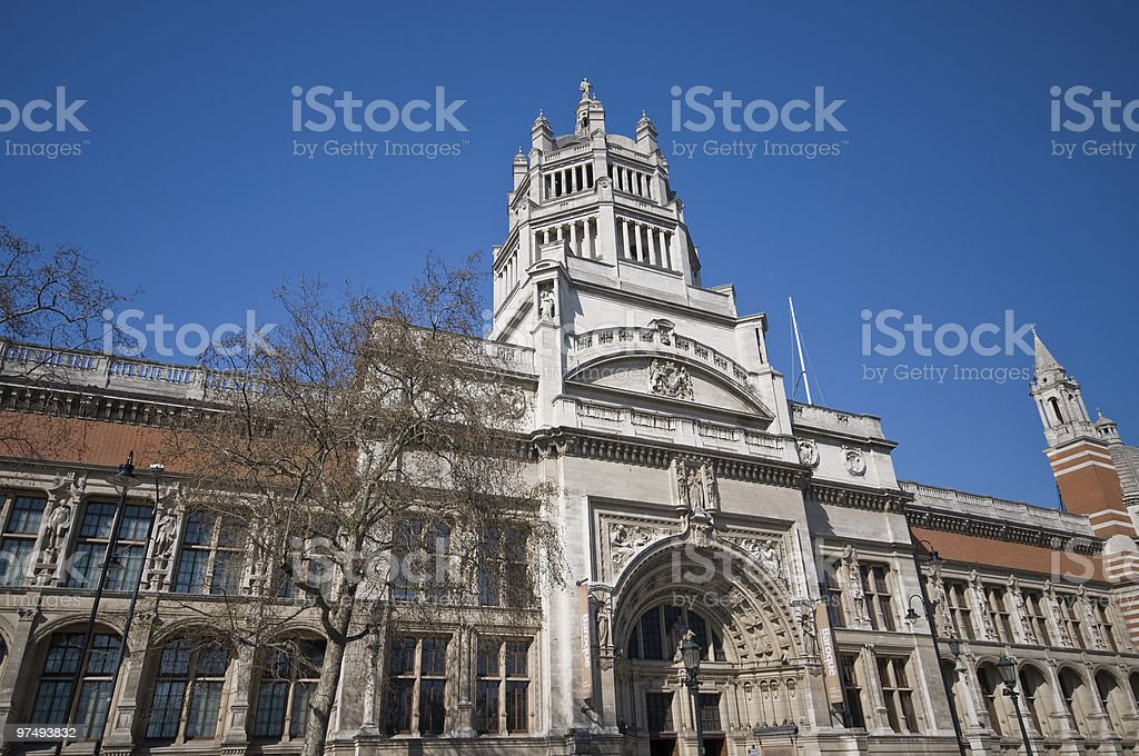 Entrance to the Victoria and Albert museum stock photo