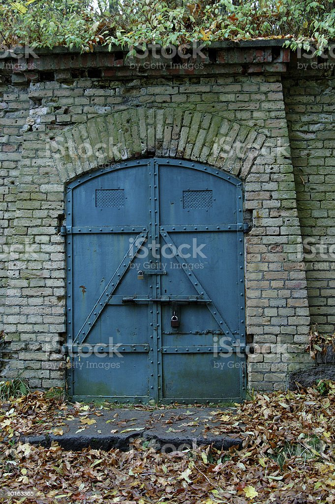 Entrance to the warehause. royalty-free stock photo