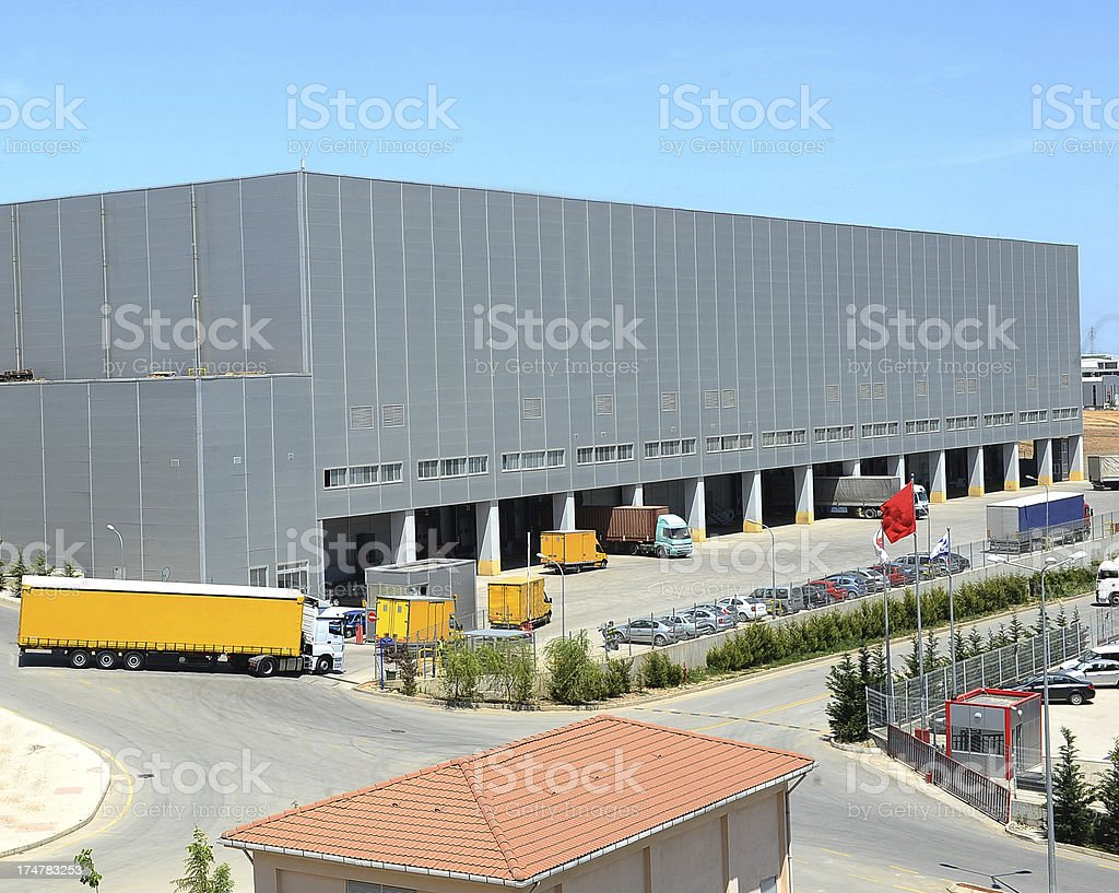 Entrance to the warehouse royalty-free stock photo